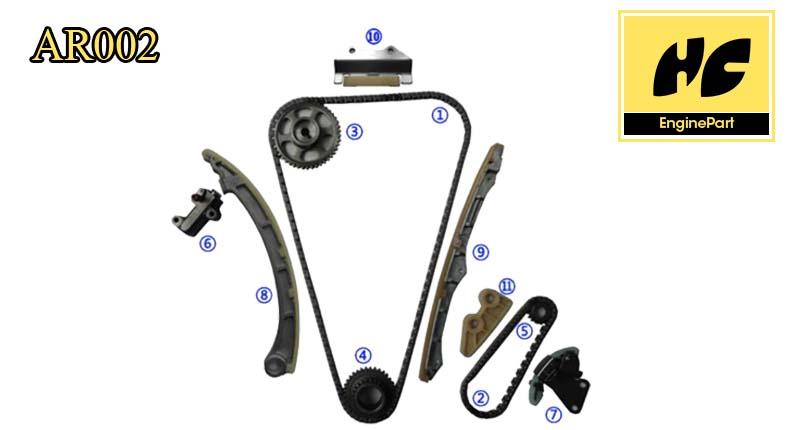 k24a2 honda parts acura tsx element timing chain kit